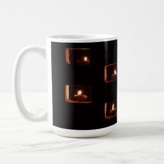 Burning candles custom mugs