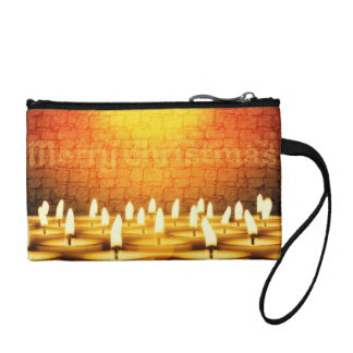 Burning candles - Merry Christmas Coin Purse
