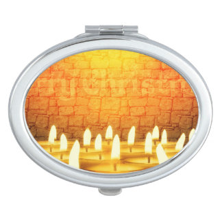 Burning candles - Merry Christmas Compact Mirrors