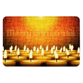 Burning candles - Merry Christmas Magnet