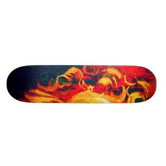 Burning Curls Stamp Skate Deck