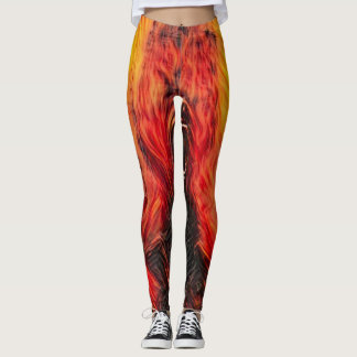 Burning Demon Death Dark Horror Fantasy Leggings