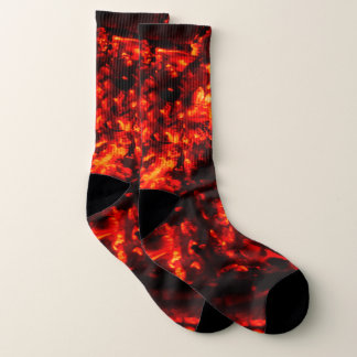 Burning Embers Awesome Fire Photo Socks