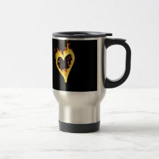Burning Fire Heart Coffee Mug