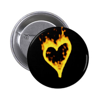 Burning Fire Heart Pin