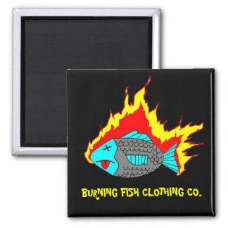 BURNING FISH LOGO MAGNET