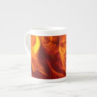 Burning Flames Fiery Bone China Coffee Mug