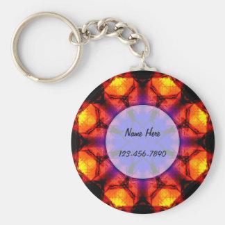 Burning Flower Mandala Key Ring