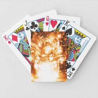 Burning Girl Bicycle Playing Cards