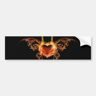 Burning Heart Bumper Sticker