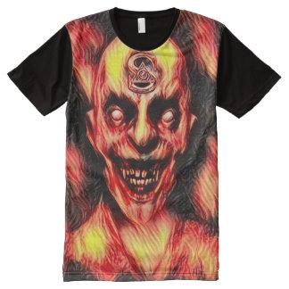 Burning Illuminati Vampire Dark Horror Art All-Over Print T-Shirt
