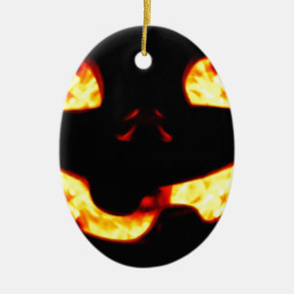 Burning Jack Ceramic Ornament