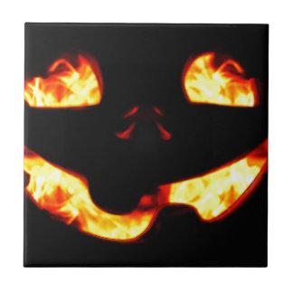 Burning Jack Ceramic Tile