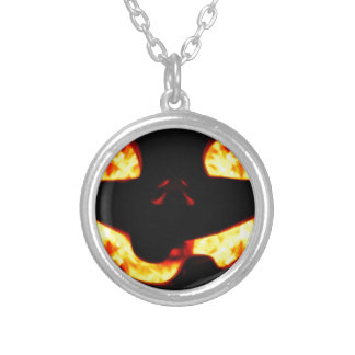 Burning Jack Silver Plated Necklace