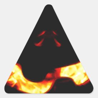 Burning Jack Triangle Sticker