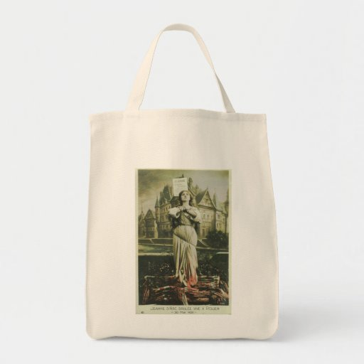 Burning Joan Canvas Bags