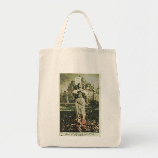 Burning Joan Grocery Tote Bag