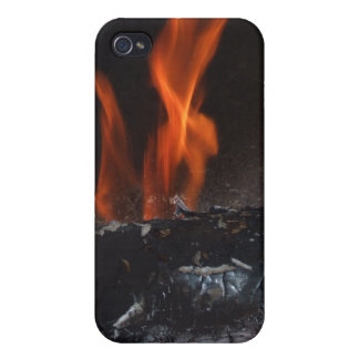 Burning Log fire  iPhone 4/4S Cases