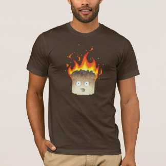Burning Marshmallow Pixel Art T-Shirt