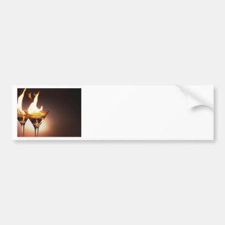 burning martini bumper sticker