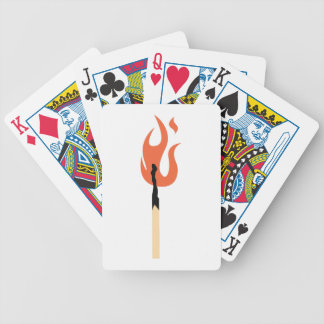 Burning Matchstick Bicycle Playing Cards