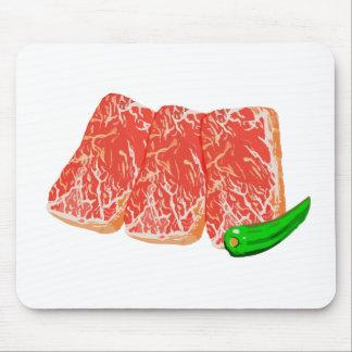 Burning meat karubi mouse pad