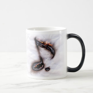 Burning Music Note Morph Mug