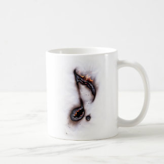 Burning Music Note Mug