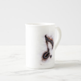 Burning Music Note Tea Cup