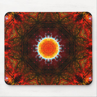 Burning Nature Mandala Mouse Pad