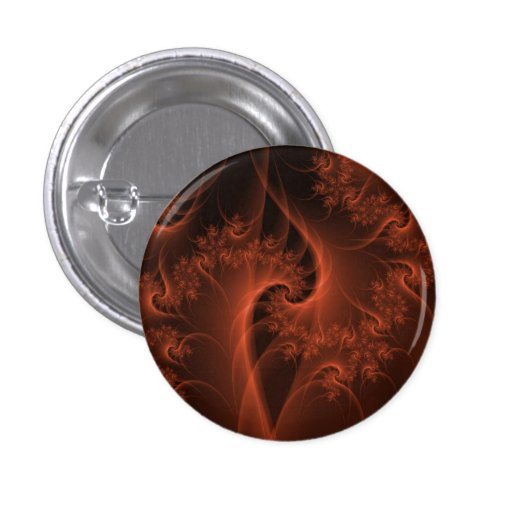 Burning Orange Twist  Pinback Button