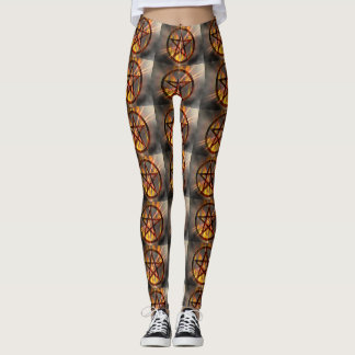 Burning Pentagram Leggings