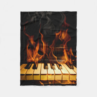 Burning Piano Small Fleece Blanket