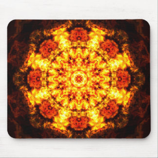 Burning Reality Mandala Mouse Pad