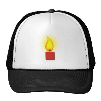 Burning Red Candle Mesh Hat