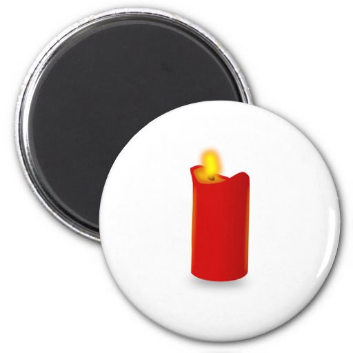 Burning Red Candle Magnets