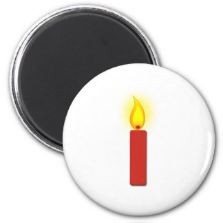 Burning Red Candle Magnet