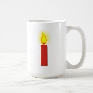 Burning Red Candle Mug