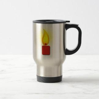 Burning Red Candle Coffee Mugs