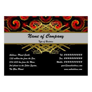 Burning Red Magma Waves Big Paper Cut Out Pack Of Chubby Business Cards