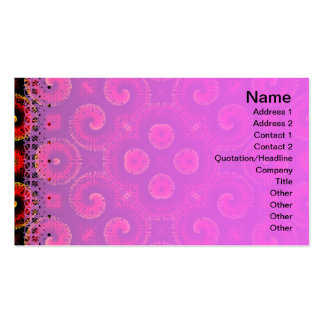 Burning Red Magma Waves Big Paper Cut Out Pack Of Standard Business Cards