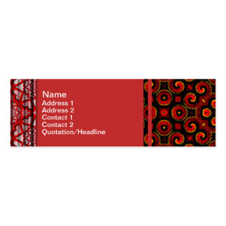Burning Red Magma Waves Small Paper Cut Out Business Card Templates