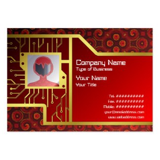 Burning Red Magma Waves Small Paper Cut Out Business Card