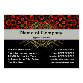 Burning Red Magma Waves Small Paper Cut Out Business Cards
