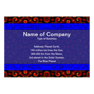 Burning Red Magma Waves Small Paper Cut Out Business Card Template
