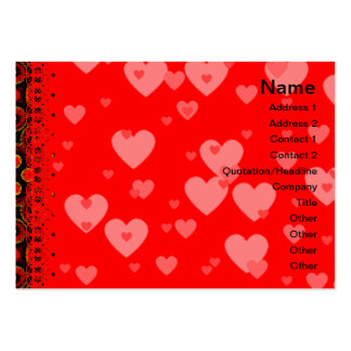Burning Red Magma Waves Small Paper Cut Out Pack Of Chubby Business Cards