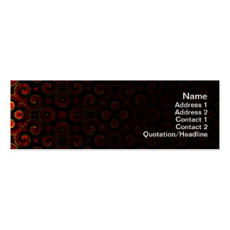 Burning Red Magma Waves Small Paper Cut Out Pack Of Skinny Business Cards
