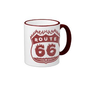 Burning Route Ringer Mug