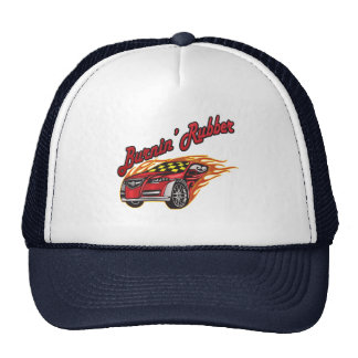 Burning Rubber Racing Gifts Mesh Hats