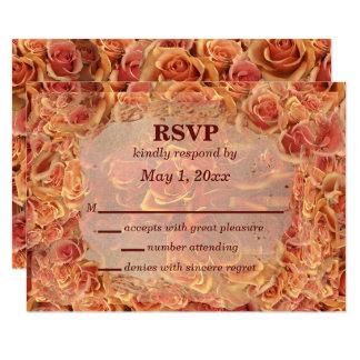 Burning Sand Roses RSVP Card